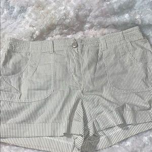LOFT stripe cotton shorts